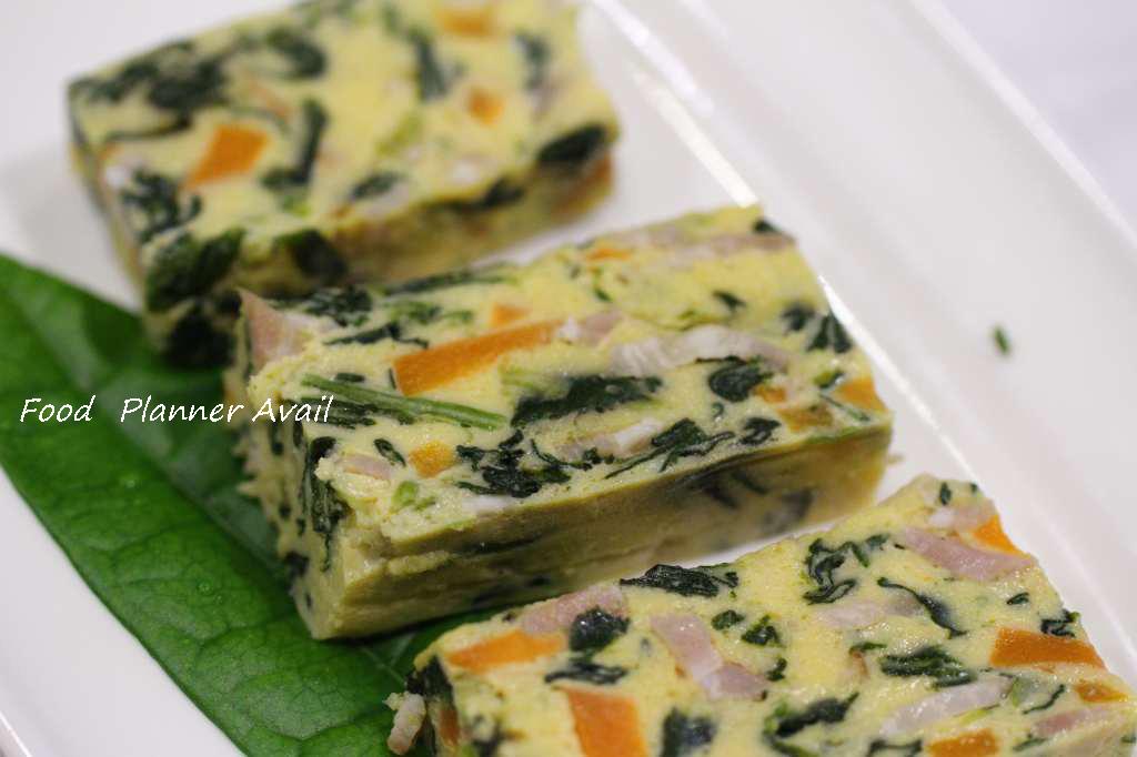 s-ほうれん草とベーコンの卵焼き (2)